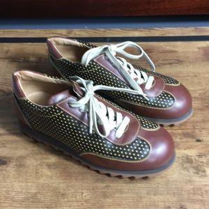 Vintage Dooney & Bourke brown,black & gold shoes